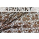 REMNANT: Light Brown Beaded Floral Lace - 1.8m piece