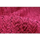 Pleated Silk Dupion - Red