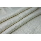 "Raw Silk ""New Textured Weave"" Matka - Natural Ivory"