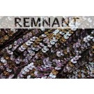 REMNANT: Corrugated Round Sequin on Silk Chiffon Bronze/Lilac - 1.15m by 0.6m piece