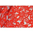 Patterned Jersey Net - Red and White
