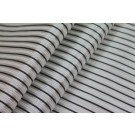 Striped Brocade - White Grey & Black