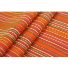 Striped Brocade - Orange & Green