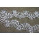 Floral Leavers Lace Trim - Ivory
