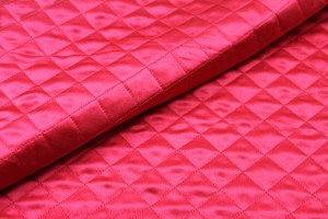 Quilted Silk Satin - Red