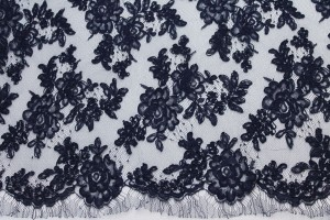 Navy Corded Lace