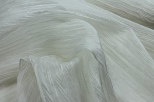 Pleated Silk Organza - Ivory