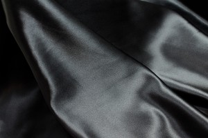 Silk Satin Backed Crepe - Black