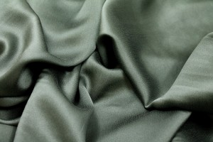 Bottle Green Silk Satin - 140cm wide