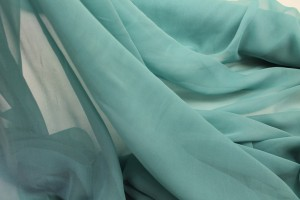 Pale Teal Silk Georgette - 110cm wide