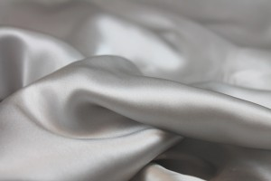 Pale Grey Silk Satin - 140cm wide