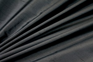 Silk Dupion - Black - 140cm wide
