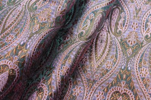 Banaras Brocade - Mauve and Copper