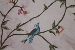 Bird Embroidery - Pink