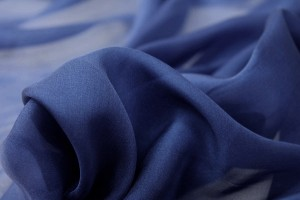 Royal Blue Silk Chiffon