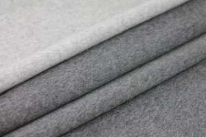 Double Faced Wool Coating - Grey