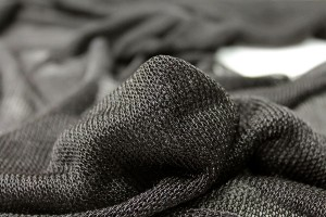 Fine Metallic Thread Knit - Black