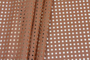 Perforated Soft Leatherette - Brown