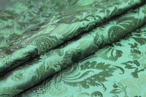 Heavy Jacquard Style Embroidery - Emerald Green