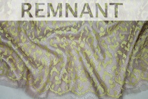 REMNANT - Yellow and Lilac Abstract Lace - 1.45m piece