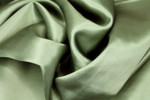 Olive Green Silk Satin - 112cm wide