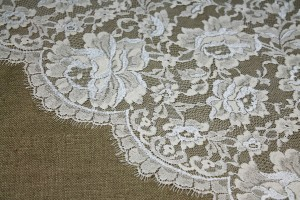 Cream and Ivory Leavers Lace - Last 4.5m
