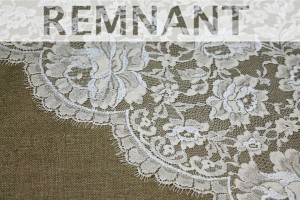 REMNANT - Cream and Ivory Leavers Lace - 1.7m piece