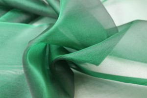 Silk Organza - Emerald Green