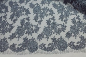 Slate grey Corded Lace