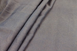 Cotton Linen Twill - Navy/Brown
