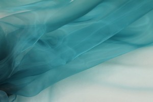 "Polyester ""Glass"" Organza - Teal"