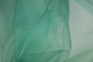 "Polyester ""Glass"" Organza - Mint"