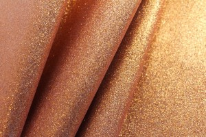 Glitter Coated Fabric - Orange