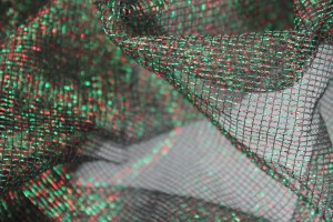 Red and Green Lurex Mesh