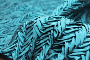 Pleated Poly Dupion - Teal