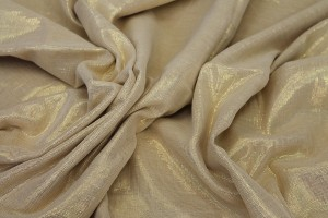 Cotton and Lurex, Ivory/Gold