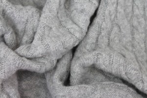 Wool Cable Knit - Grey