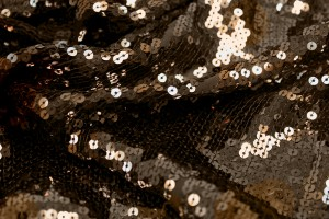 Sequin On Chiffon - Brown