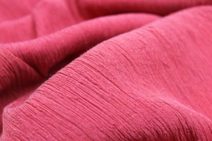 Pleated Silk and Cotton - Red