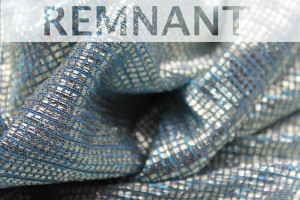 REMNANT - Sheer Shimmer Jersey - Dusty Blue Silver - 1.3m piece