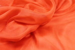 Orange Silk Chiffon