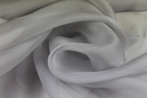 Silk Organza - Pale Grey