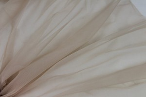 Stretch Tulle - Sheer Bodystocking - Pale Beige