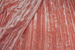 Crushed Viscose Velvet - Salmon