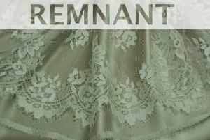 REMNANT - Graduated Floral Cream Leavers Lace - 1.8m piece