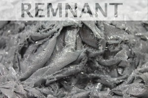 REMNANT - Cotton and Lurex Textured Applique - Grey Silver - 1.1m piece