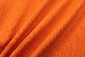 Heavy Herringbone Wool - Orange