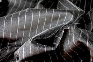 Cotton Velvet - Black Pinstripe