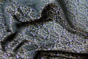 Banaras Brocade - Purple Floral