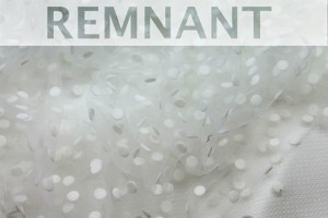 REMNANT - Flock Spot Tulle - Ivory - Medium - 0.45m piece